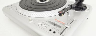 Vestax ベスタクス PDX-2000 レコードプレーヤー ターンテーブル DJ 機材 シルバー 音響機材