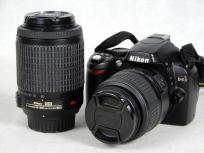 Nikon ニコン D40 ダブルズームキット D40BWZ カメラ デジタル一眼レフ ブラック