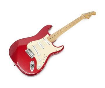 Fender フェンダー Mexico ストラトキャスター エレキギター 楽器 音楽 趣味 演奏 バンド 絃楽器 レッド 系 本体
