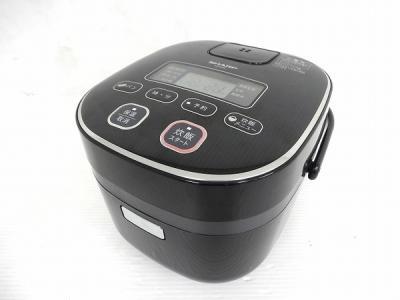 SHARP ジャー 炊飯器 KS-C5K 3合 炊き 黒厚釜 球面炊き 家電 シャープ
