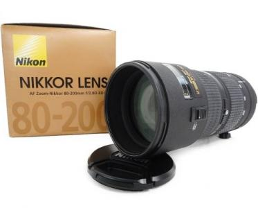 Nikon ニコン AF Zoom-Nikkor 80-200mm f/2.8D ED カメラ レンズ 箱 ケース付き 趣味 撮影 機材 周辺機器 ブラック