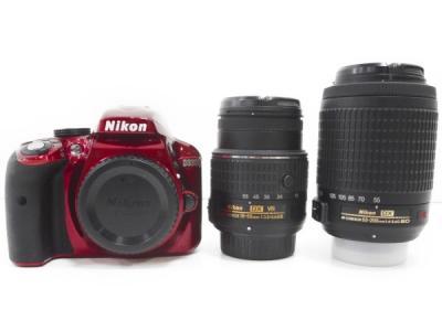 Nikon ニコン  D3300 デジタル一眼レフカメラ ダブルズームキット2 レッド