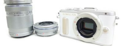 OLYMPUS オリンパス PEN E-PL8 EZ ダブルズームキット ミラーレス一眼 カメラ ホワイト