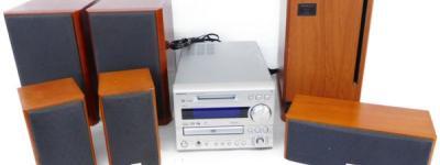 ONKYO オンキョー X-UN9 DVD MD チューナー アンプ システム UWA-9PAW サブウーファー 他 セット