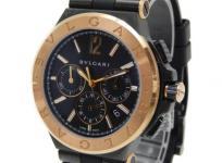 BVLGARI ブルガリ ディアゴノ ウルトラネロ クロノグラフ DG42BBSPGVDCH 腕時計 メンズ 18KPG ラバー