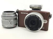 OLYMPUS PEN mini E-PM1 ツイン レンズキット ブラウン