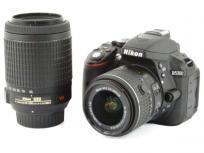 Nikon ニコン 一眼レフ D5300 ダブルズームキット ブラック デジタル カメラ