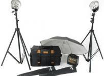 PROPET PC-1200S ストロボ H-320 2灯 セット ケーブル 付 パラソル 三脚 カメラ 周辺機器