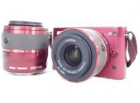 ニコン Nikon 1 J2 ダブルズームキット デジタルカメラ レンズセット レッド
