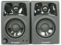 M-AUDIO AV32 小型 モニター スピーカー ペア オーディオ ブラック 軽量 コンパクト
