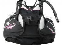 AQUA LUNG アクアラング pearl BC ジャケット XSサイズ レディース ダイビング 機材 マリン スポーツ ブラック ピンク