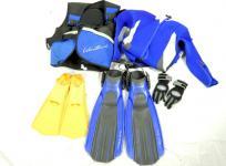 スキューバ 機材セット Aqualung TUSA BCジャケット レギュレーター ウェットスーツ フィン など
