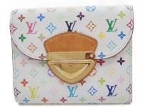 LOUIS VUITTON ルイ・ヴィトン モノグラムマルチカラー ポルトフォイユ コアラ M58081 ブロン 白 三つ折り 財布
