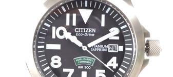 CITIZEN ECO-DRIVE シチズン エコドライブ ロイヤルマリーン BN0110-06E イギリス海兵隊 チタン 腕時計 300m防水