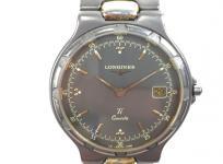 LONGINES Conquest TITANIUM ロンジン コンクエスト L161.2 クォーツ デイト 腕時計 チタン