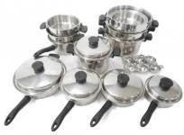 Amway 鍋 クイーンクック 25ピース セット 鍋 調理 器具 キッチン 18/8 ステンレススチール アムウェイの買取