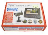 ELPA ワイヤレスカメラモニターセット CMS-7001 セキュリティ