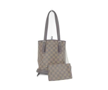 LOUIS VUITTON ルイ・ヴィトン ダミエ マレ N42240 トートバッグ ポーチ付き バケット