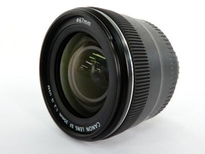Canon キヤノン EF 35mm 1:2 IS USM EF3520IS カメラレンズ 広角 単焦点 趣味 撮影 コレクション