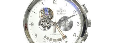 ZENITH ゼニス グランドクラス オープン 03.0520.4021 白文字盤 裏スケ パワーリザーブ 自動巻き メンズ