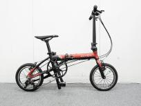 DAHON K3 14インチ 折りたたみ 自転車 1×3 3段階切り替え レッド×マットブラック ダホン