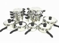 Amway アムウェイ クイーンクック 鍋セット 24ピース 料理器具の買取