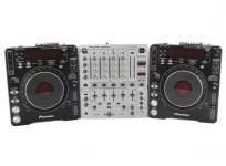 パイオニア Pioneer CDJ-1000MK2 2台 + ミキサー DJM-600 3台 セット CDJ DJ機器 オーディオ 音響