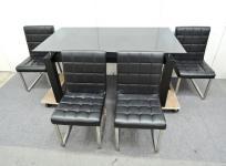 訳有 ARMONIA LOOSEシリーズ 型番不明 ダイニング テーブル 机 チェア 椅子 4脚 セット 直