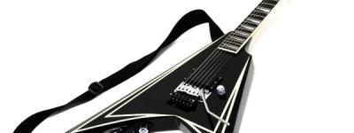 エドワーズ EDWARDS E-AL-128 Saw Tooth 変形 エレキギター ブラックピンストライプ