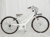 YAMAHA ヤマハ PAS mina PA26M 2018年モデル 26インチ 電動自転車 ホワイト系 実使用無し大型の買取