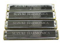 SUZUKI スズキ 鈴木楽器 ハーモニカ 4本 セット A、C、C#、Am 演奏