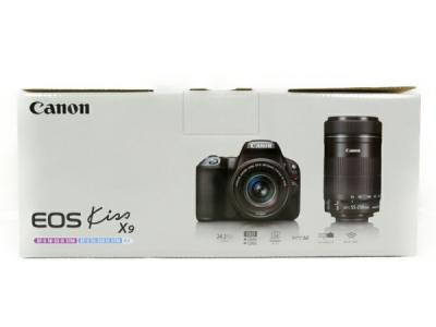 Canon 一眼レフ EOS Kiss X9 ダブルズームキット デジタル カメラ レンズキット EOSKISSX9-WKIT