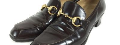 GUCCI グッチ パンプス ホースビット レザー ブラウン レディース シューズ 靴