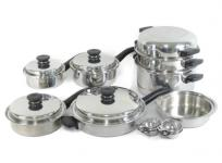 Amway アムウェイ クイーンクック 19ピース セット 鍋 フライパン 調理器具 ステンレスの買取