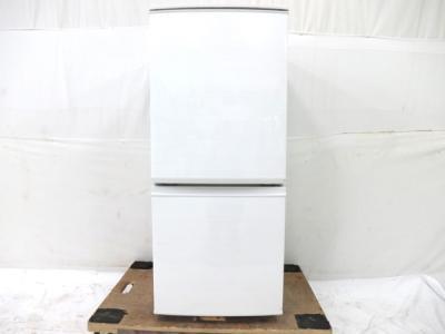 SHARP シャープ SJ-D14C-W ノンフロン 2017年製 単身 冷凍 冷蔵庫 137L