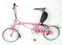 Brompton S6R ブロンプトン 折畳み自転車 6段変速 ピンク サイクリング バイク 大型の買取