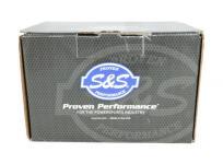 S&S ミニティアドロップ エアークリーナー クローム 2001〜17年ツインカムモデルでインジェクション車 ハーレーパーツ