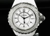 CHANEL シャネル J12 H0967 クォーツ ベゼルダイヤ 白セラミック ホワイト レディース 腕時計
