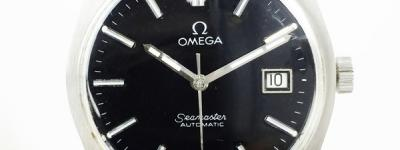 OMEGA オメガ シーマスター デイト 黒文字盤 自動巻き アンティーク 腕時計 Cal.1481