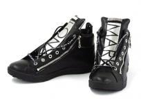 Mark & LONA マークアンドロナ Encore Zip High-cut Sneaker MLS-9A-SS03 BLACK 26cm スニーカー