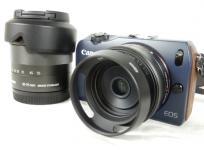 Canon EOS M EF-M 18-55 IS STM 22 Kit ダブル レンズ キット ミラーレス 一眼 カメラ
