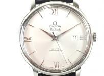 OMEGA オメガ デビル プレステージ コーアクシャル 424.13.40.20.02.001 アリゲーターレザー メンズ 自動巻き 腕時計