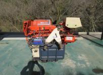 宮崎県発 クボタ RH1-50D 脱穀機 ハーベスター 自走式 リコイル ガソリン エンジン Kubota 農業 農機具