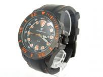 SMITH&WESSON スミスアンドウェッソン 腕時計 50M クォーツ メンズ ラバーベルト デイト