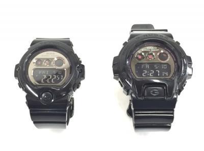 平台 G-SHOCK Baby-G DW-6900LA BG-6901LA ラバーズコレクション 2012年 限定 光沢ブラック ペア 腕時計