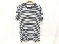 MARTIN MARGIELA マルタンマルジェラ Tシャツ カットソー ボーダー 白黒 グレーリブ Sサイズ