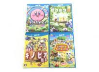 任天堂 ニンテンドー Wii U ソフト 4本セット どうぶつの森 キノピオ隊長 ピクミン3 カービィ