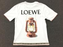 LOEWE ロエベ Tシャツ ランタングラフィック ロゴ バックプリント ホワイト Lサイズ メンズの買取