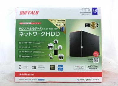 BUFFALO NAS LS220D0402G タブレット PC対応 ネットワークHDD 4TB