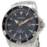 CITIZEN WATCH PROMASTER シチズン プロマスター BN0101-58E 黒文字盤 デイト SS クォーツ 時計 メンズ